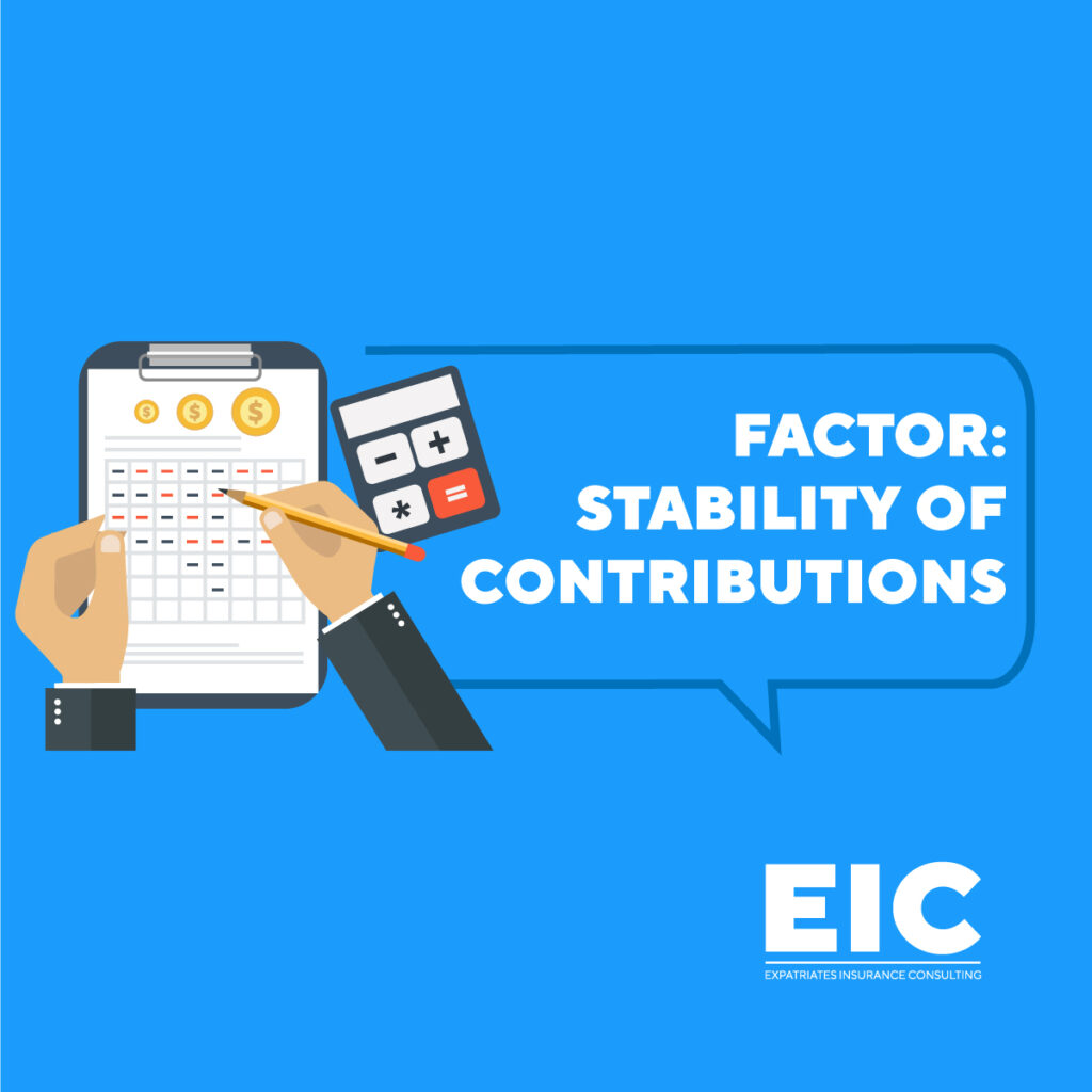 FACTOR: STABILITY OF CONTRIBUTIONS